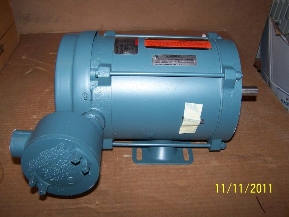 Reliance electric motor xt ip54 p56h4857n 1 2 hp 3 phase for 2 hp electric motor single phase