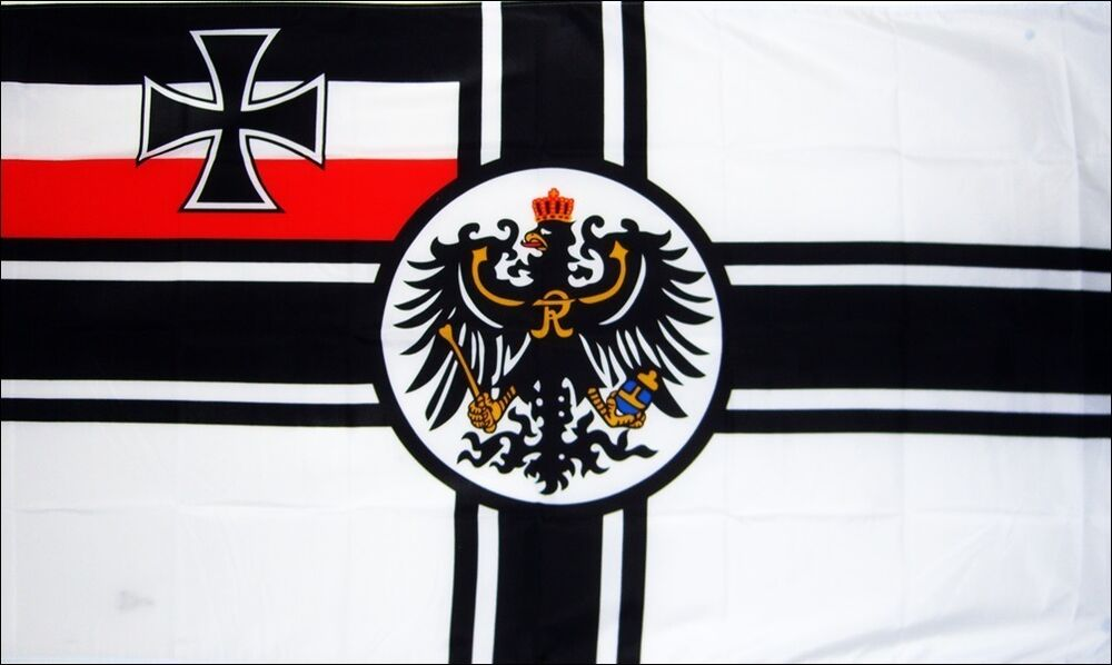 GERMAN IMPERIAL FLAG WITH CREST WORLD WAR 1 WW1 WWI GERMANY SOMME ...