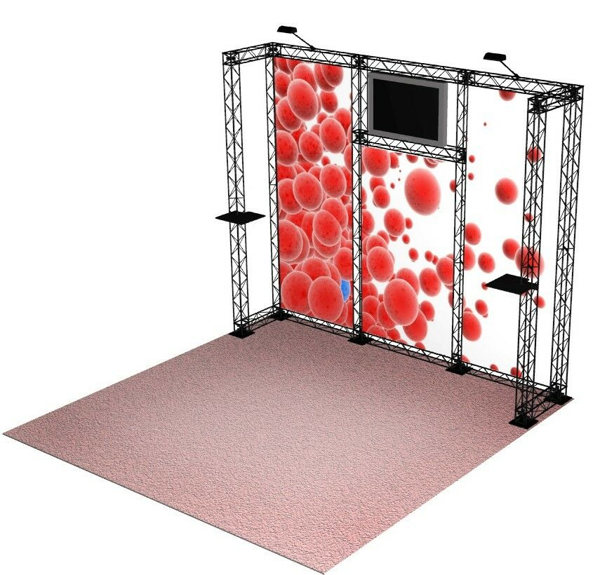 Crosswire 10x10 Portable Banner Stand Exhibit Booth