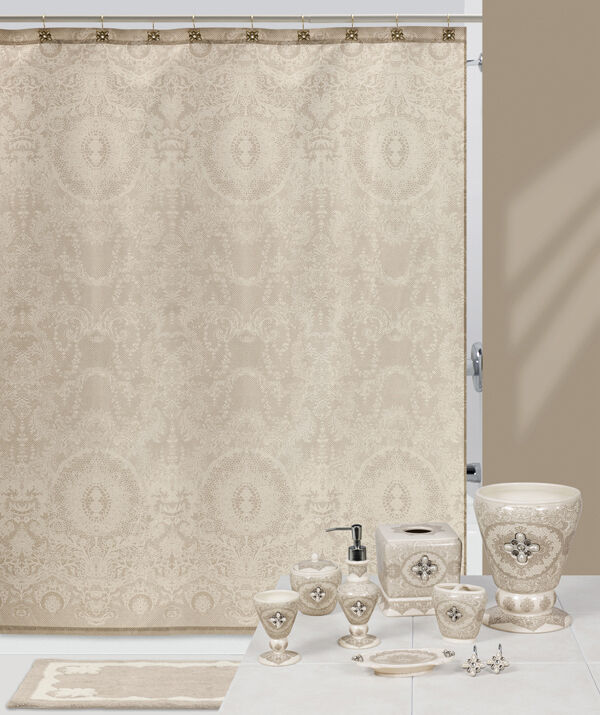 Jewels lace french chantilly bath accessories bathroom for The collection bathroom accessories