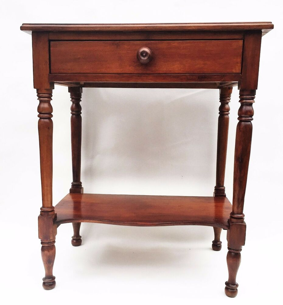 walnut federal furniture colonial sheraton antique nightstand lamp table ebay. Black Bedroom Furniture Sets. Home Design Ideas