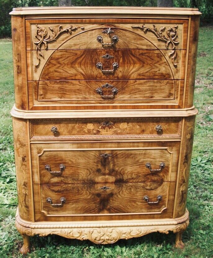 Marquetry Masterpiece Antique Furniture Chest Drawers
