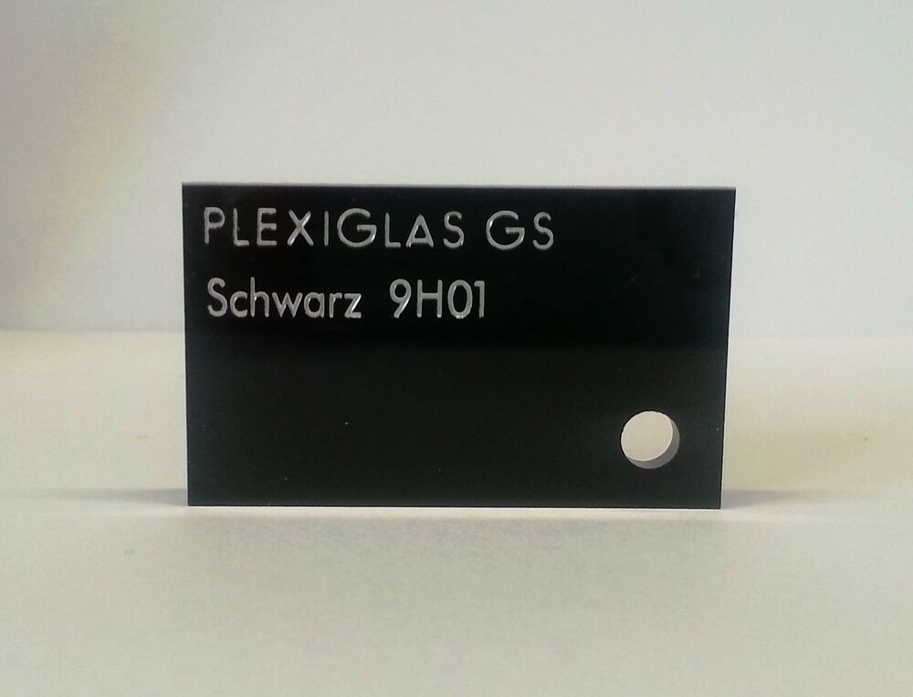 plexiglas acryl zuschnitt schwarz gs 10 mm ebay. Black Bedroom Furniture Sets. Home Design Ideas