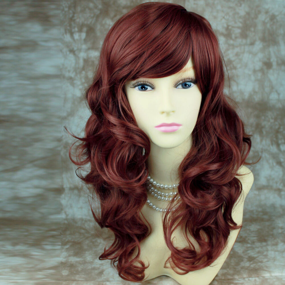 Wiwigs Stunning Long Copper Red Curly Skin Top Ladies Wig ...