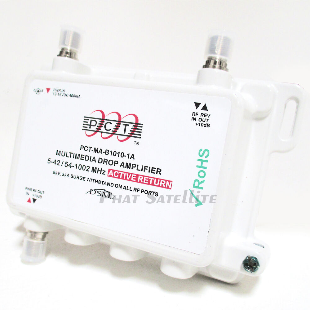 Cable Television Signal Booster Pct Active Return Powered