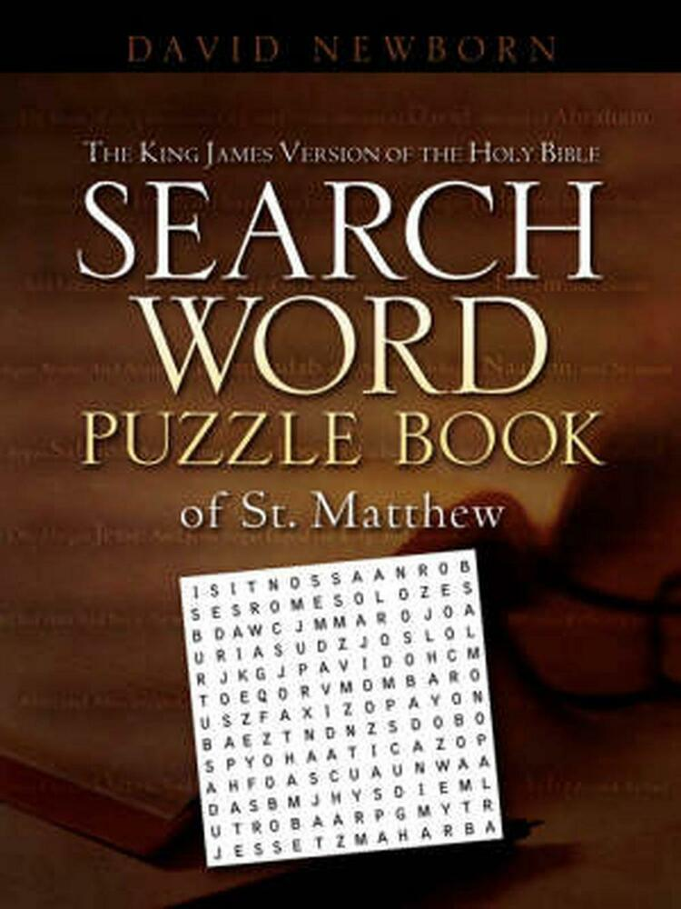 ... of The Holy Bible Search Word Puzzle Book of St Matt 1600343643 | eBay