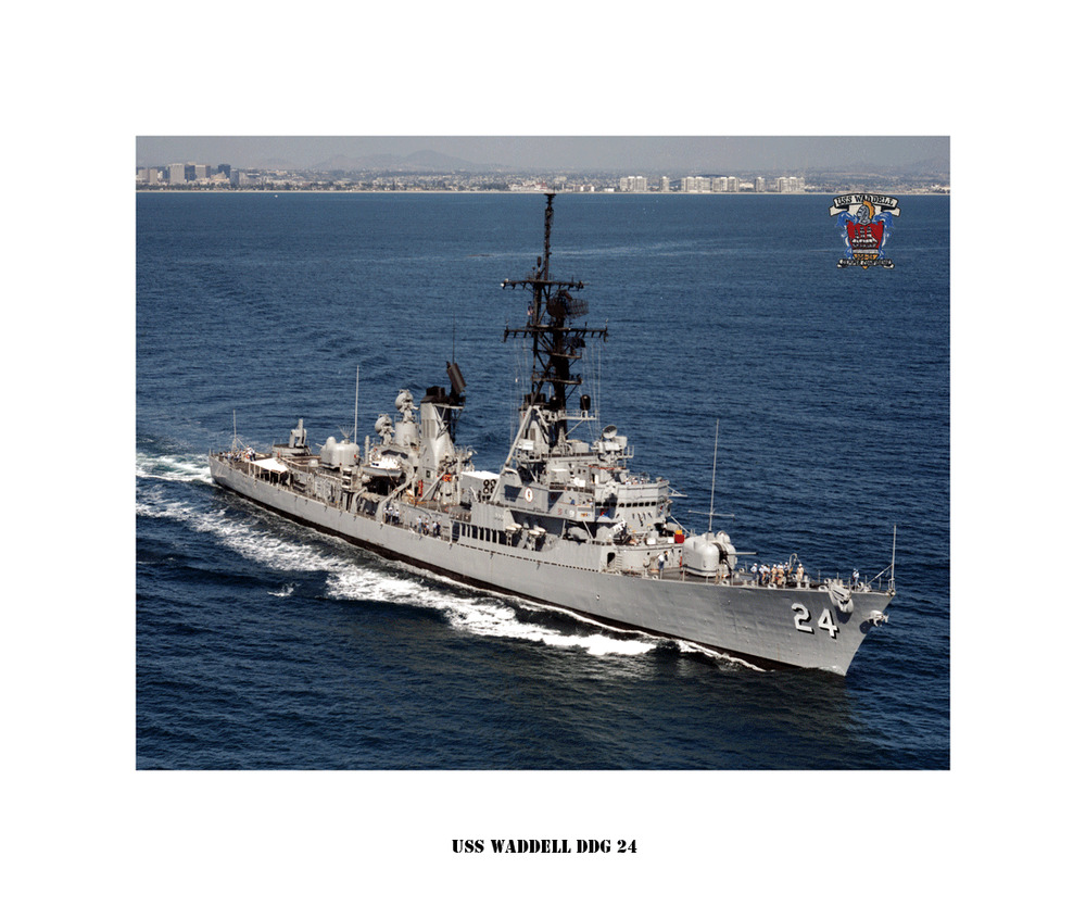USS WADDELL DDG 24 Guided Missile Destroyer, US Ship, USN