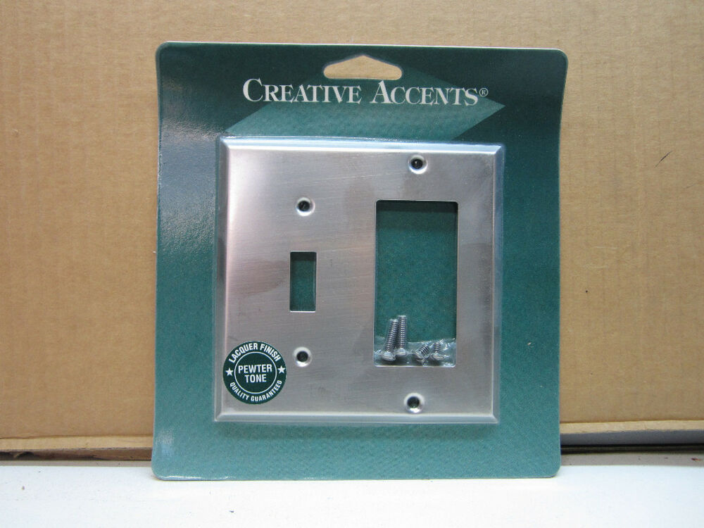 Creative Accents Pewter Silver Rocker Toggle Light