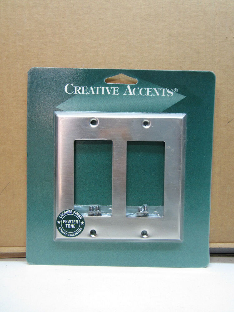 Creative Accents Pewter Silver Double Decora Rocker Wall