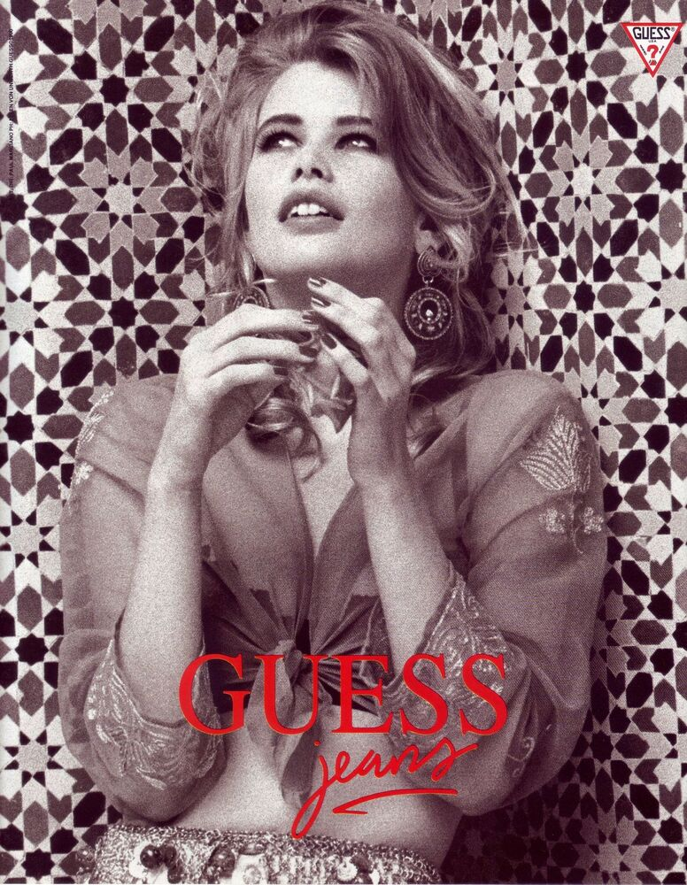 1990 GUESS JEANS AD CLAUDIA SCHIFFER | eBay Guess Jeans Ad
