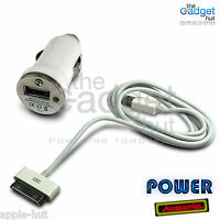 IN CAR CHARGER & USB DATA SYNC CHARGING CABLE FOR IPHONE 2G 3G 3GS 4 4G 4S