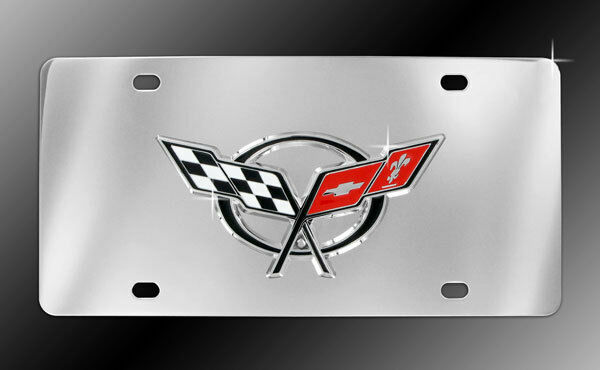 Chevrolet Corvette C5 3d Decorative Vanity Front License