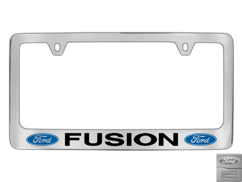 Ford Fusion 2 Logos Chrome Plated Brass Metal License