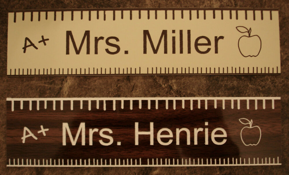 Personalized Teacher Gift Name Plate For Office Desk Or
