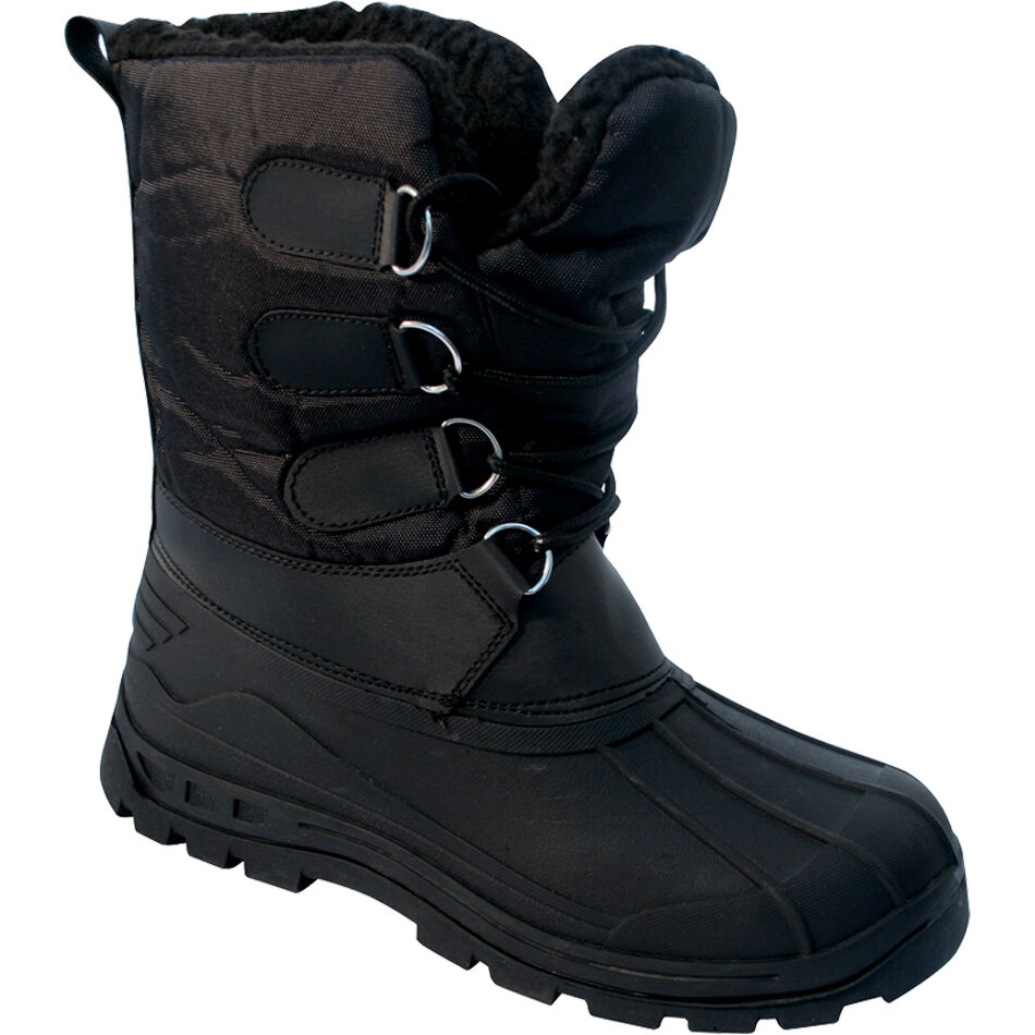 MENS BLACK SNOW BOOTS WATERPROOF MUCKER THERMAL WELLINGTONS FUR ...