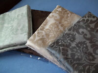 NIP EXCELL PROVANCE FABRIC SHOWER CURTAIN BATHROOM BROWN GREEN IVORY GREY