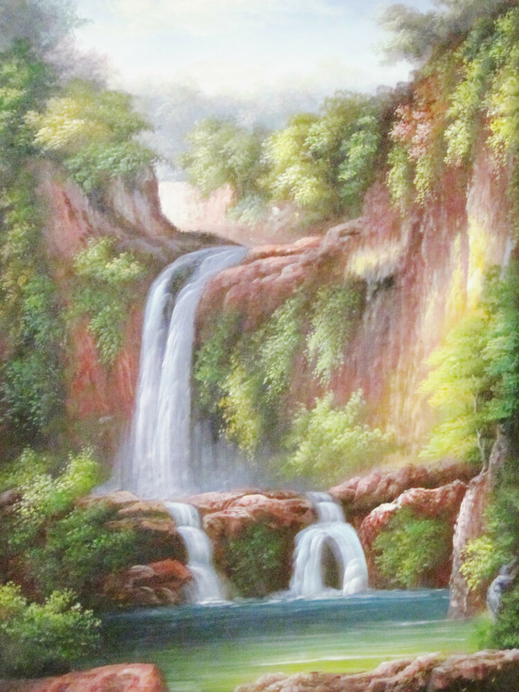 Oil painting beautiful landscape scenery fine art for Oil painting scenery