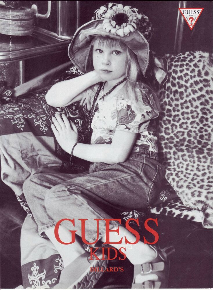 1993 GUESS JEANS for KIDS AD Little girl * | eBay Guess Jeans Ad