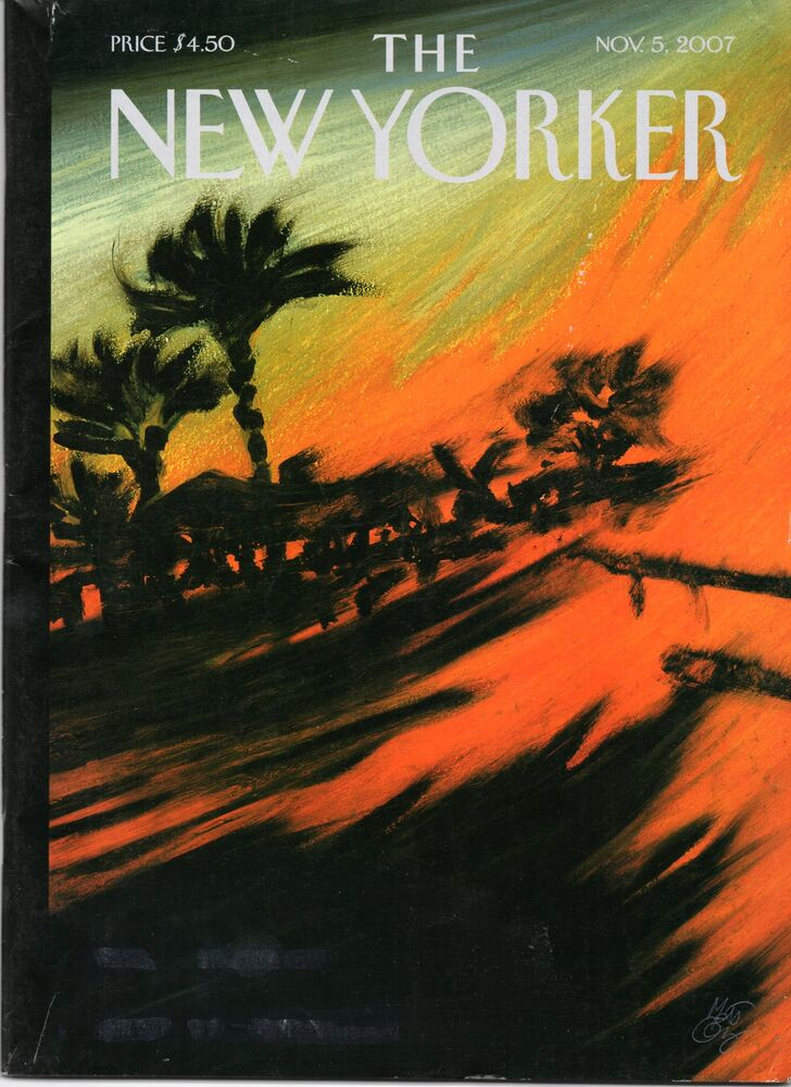 The new yorker magazine wild fires november 5 2007 subscription issue