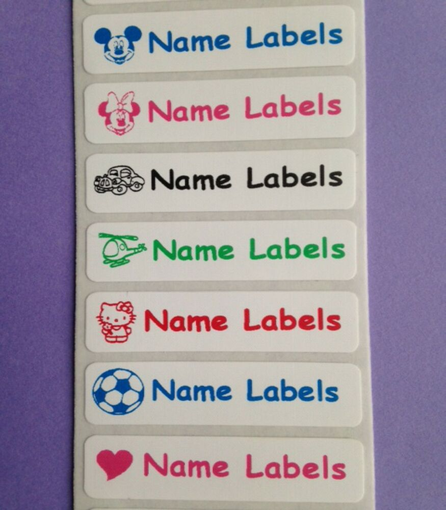 25 iron on personalised clothes name school identity for Iron on shirt labels