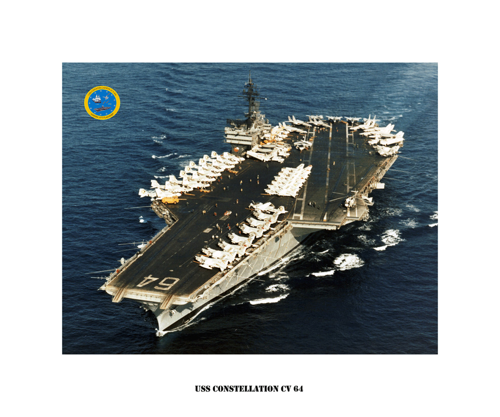 uss constellation cv 64 ca 1977 naval ship photo print  usn navy