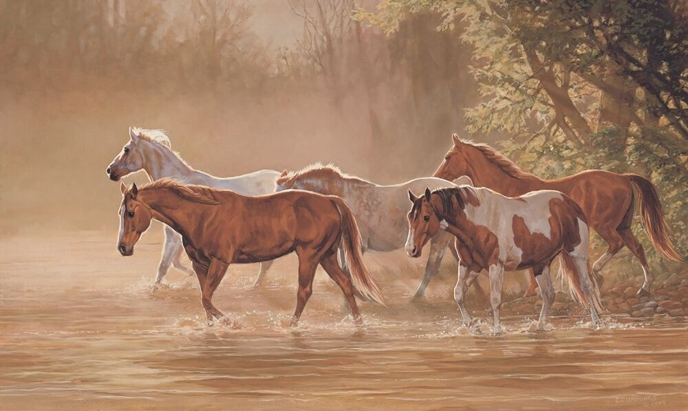 New wild mountain horses prepasted wallpaper mural horse for Equestrian wall mural