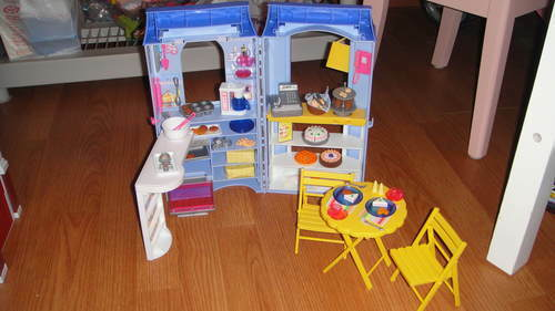 Rare Barbie Bakery Cafe Playset Complete Ebay
