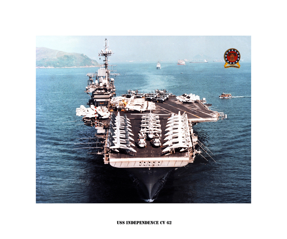 uss independence cv 62 naval ship photo print usn
