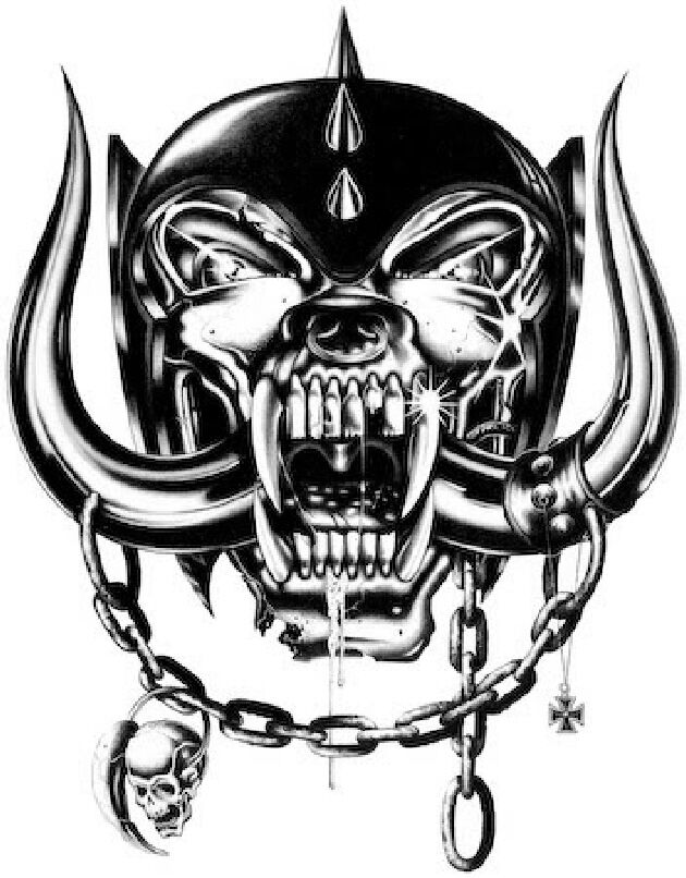 motorhead skull transfer tattoo x1 ideal fun hen  stag or