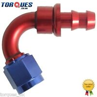 AN -6 (6AN JIC AN6) 120 Degree Push-On Socketless Fuel Hose Fitting