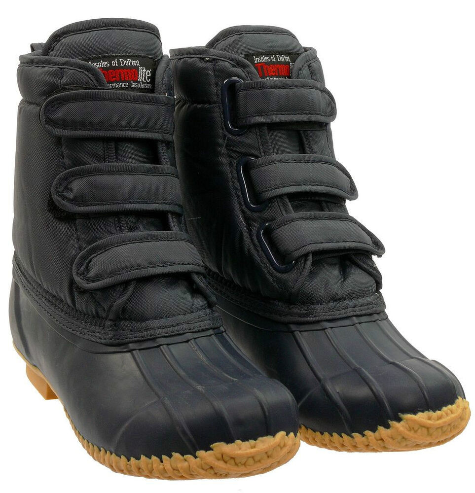 tayberry velcro mucker boot muck boot navy all sizes
