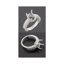 (7x5mm - 18x13mm) Oval Engraved Shank Sterling Ring Setting (Ring Size 7)