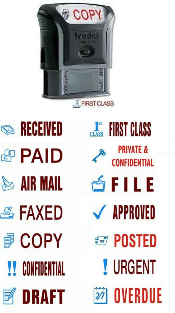 TRODAT OFFICE WORD STAMPS SELF INKING,ACCOUNTS,BUSINESS ...