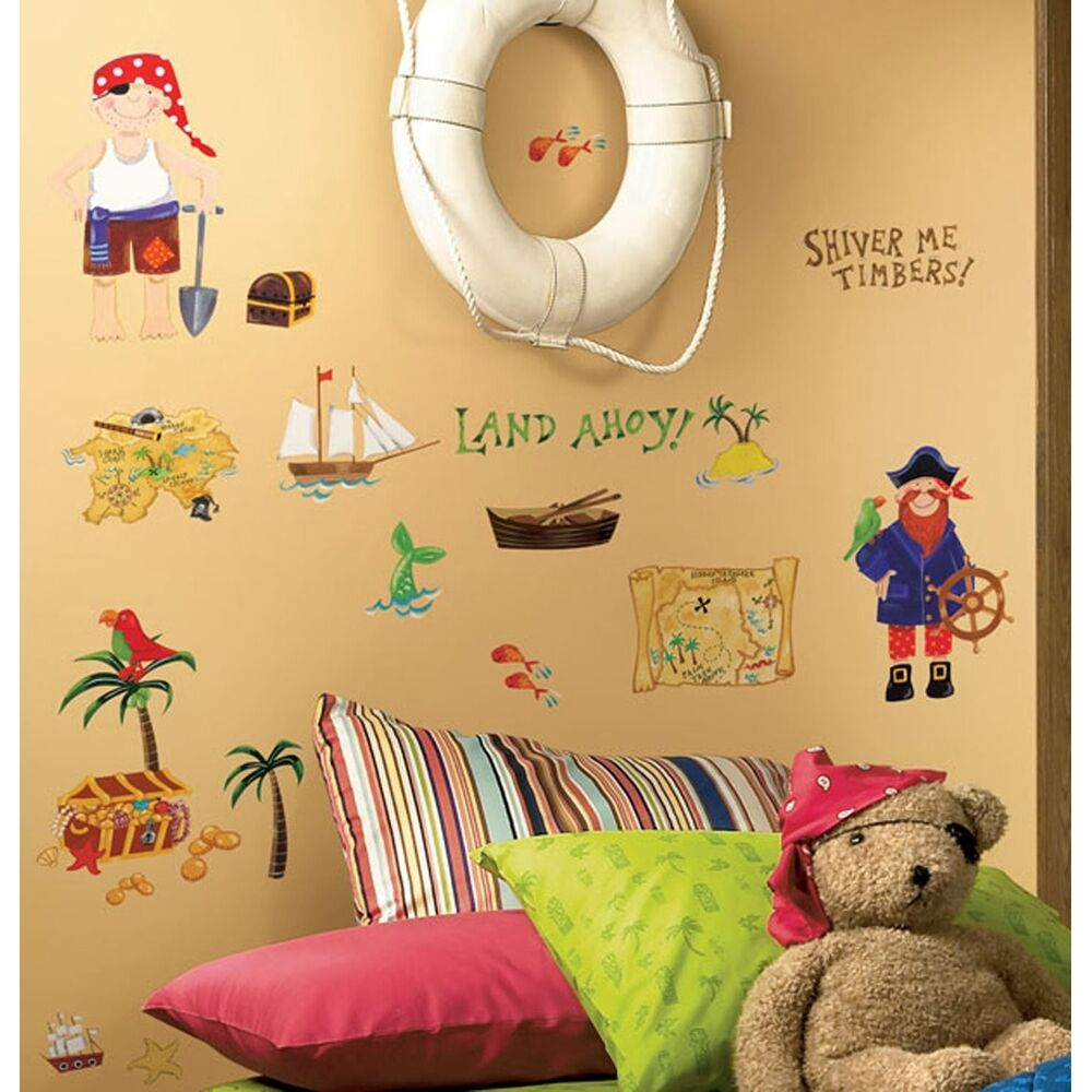 hunt wall decals pirates bedroom stickers kids room decorations ebay