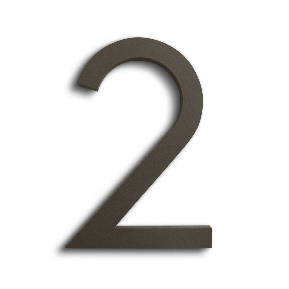 Modern house number bronze color aluminum modern font for House numbers