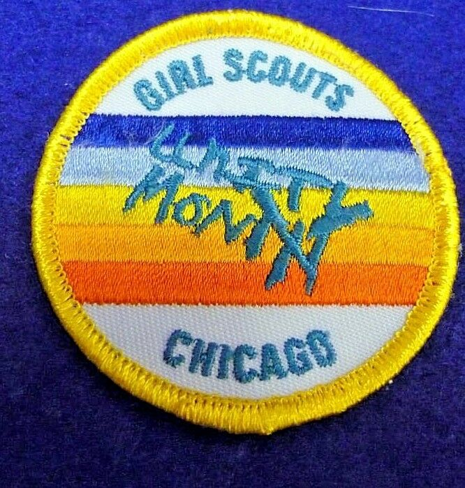 rare girl scouts chicago unity month round badge rainbow