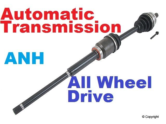3 All Wheel Drive Axle : Front right cv axle w automatictransmissions all wheel