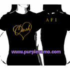 AFI:Stay Gold:Ladies/Girls Shirt NEW:Size 8
