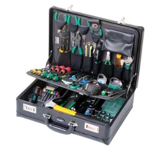 new electronic master tool kit w case electrician service repair electrical. Black Bedroom Furniture Sets. Home Design Ideas