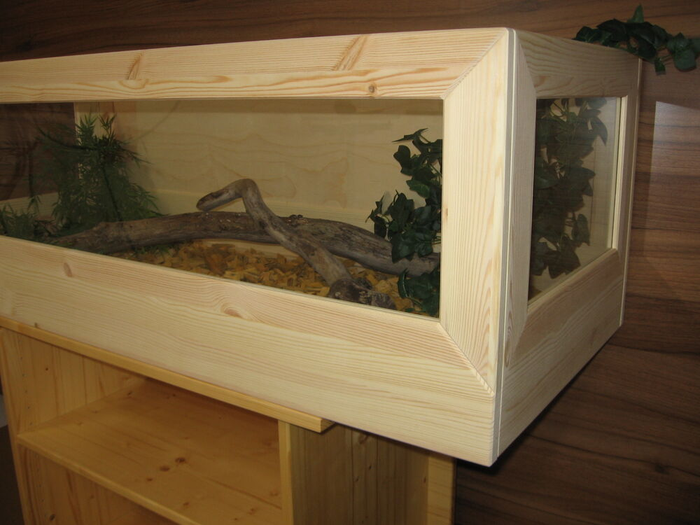 schildkr ten terrarium 120 50 40cm aus holz landschildkr ten m use ebay. Black Bedroom Furniture Sets. Home Design Ideas