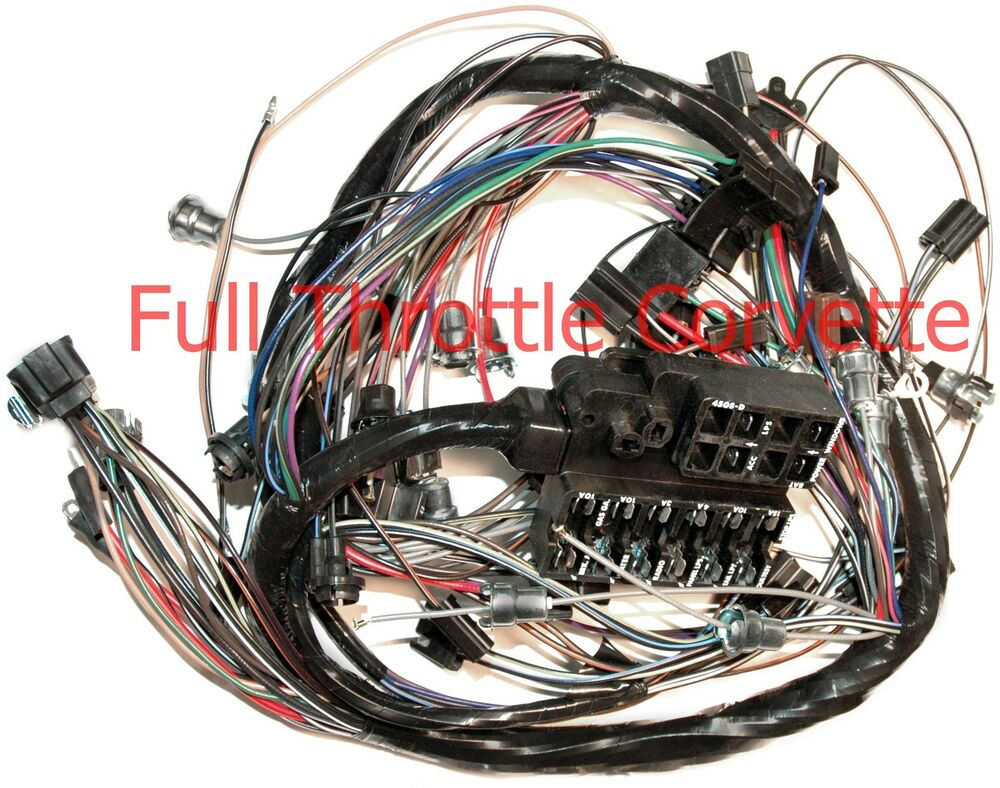 1965 65 Corvette Dash Wiring Harness For Vettes With Back