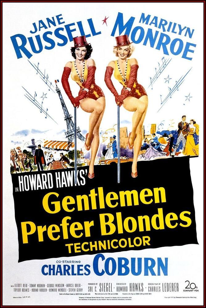 MOVIE POSTER: Gentlemen Prefer Blondes: Jane Russell ...