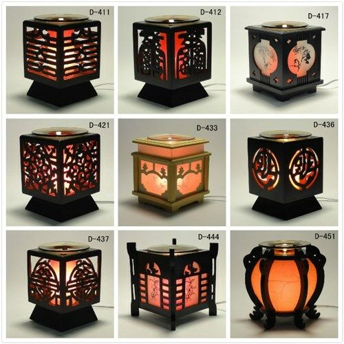 Chinese Wooden Electric Scent Oil Diffuser Warmer Burner