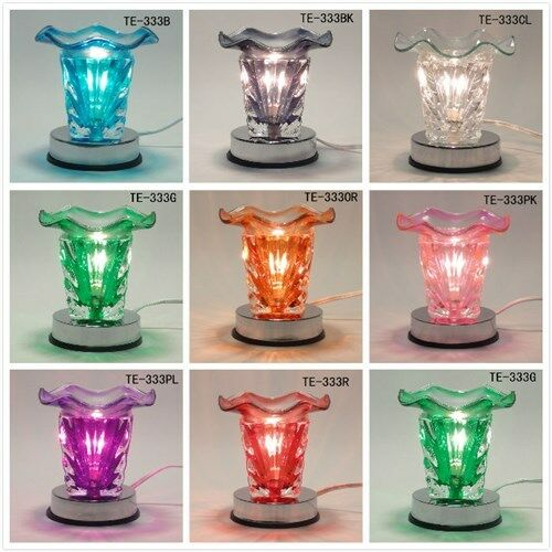 Glass Electric Sun Scent Oil Tart Fragrance Touch Lamp