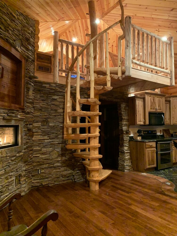 Rustic Log Spiral Staircases Stairways Priced Per Step