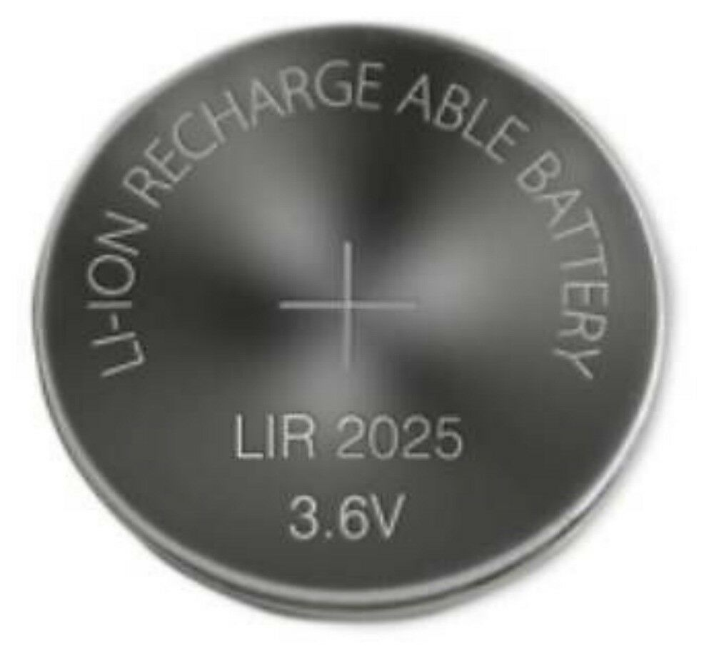 1 pile bouton cr2025 li ion rechargeable 3 6v lir2025 batterie battery accu cell ebay. Black Bedroom Furniture Sets. Home Design Ideas