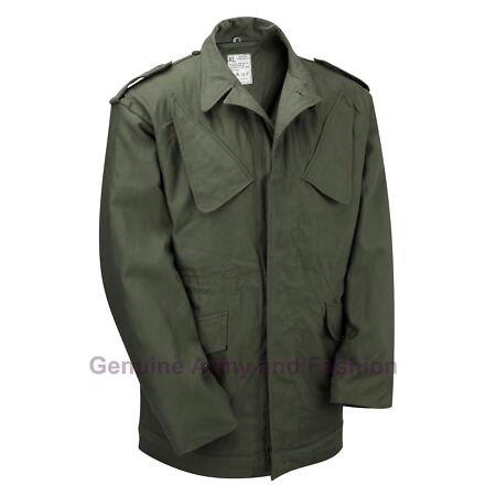 img-Genuine Dutch Issued Army Military Combat NATO Field Jacket Vintage Olive Green