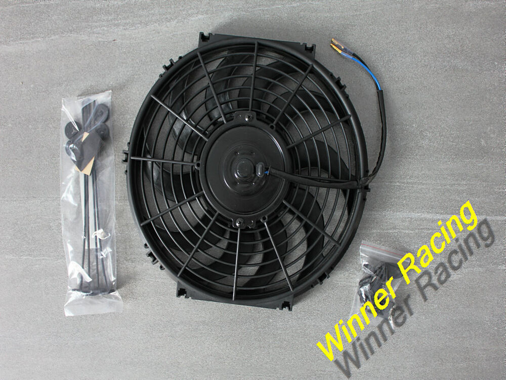 12v 12 Quot Slim Radiator Cooling Thermo Electric Fan Amp Mounting