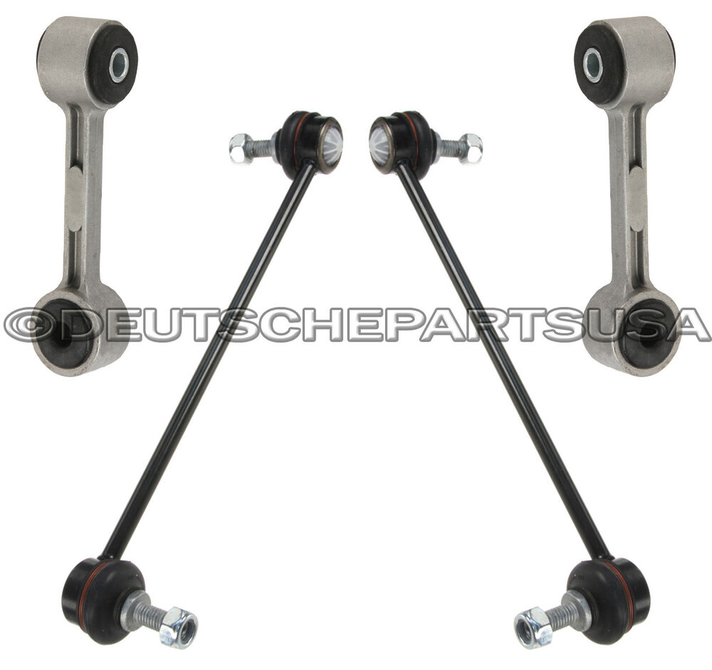 Front + Rear Sway Stabilizer Bar Links Set Of 4 For BMW