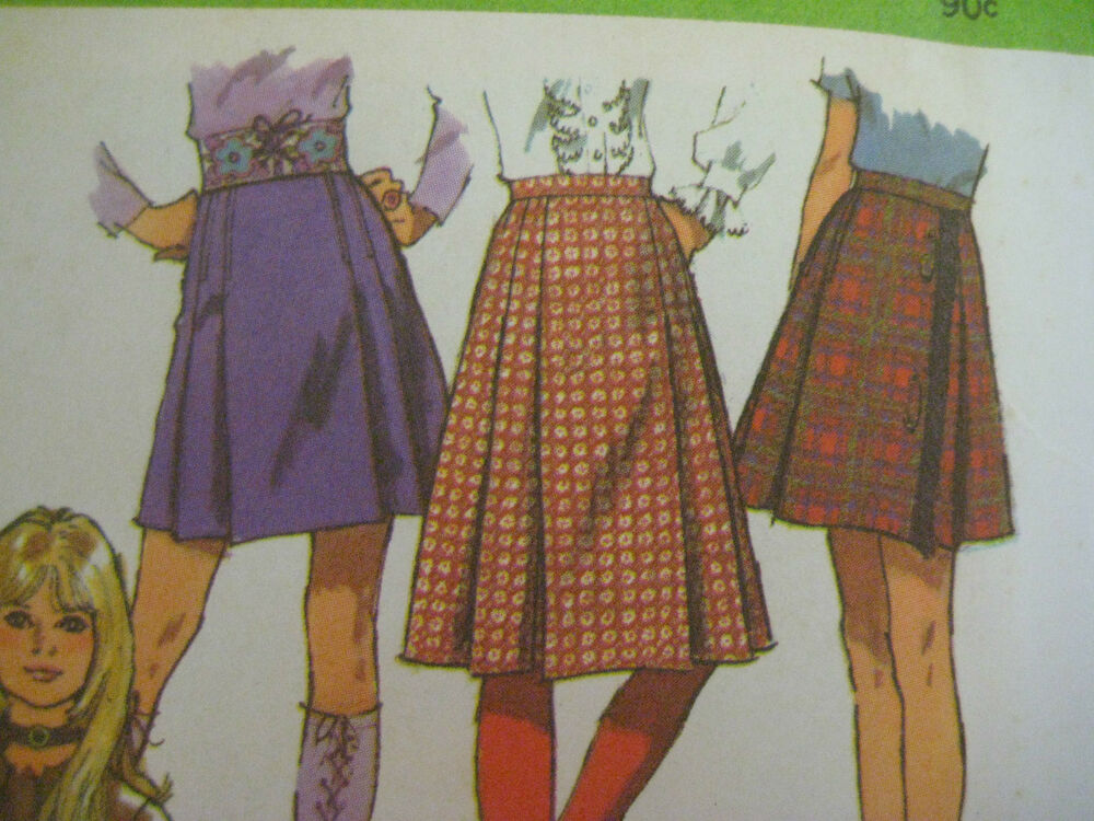 vintage simplicity 9649 pleated skirt side zipper sewing